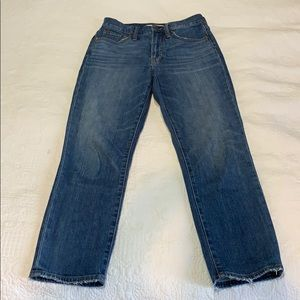 Madewell perfect vintage crop Jean